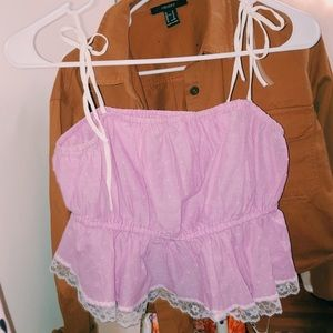 Urban outfitters crop top pink